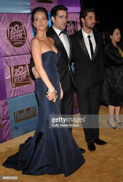 Actors Alicja BachledaCurus Colin Farrell and musician Ryan Bingham attend Fox's 2010 Golden Globes Awards Party at Craft on January 17 2010 in...