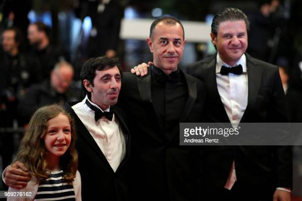 Actors Alida Baldari Calabria Marcello Fonte director Matteo Garrone and actor Edoardo Pesce attend the screening of 'Dogman' during the 71st annual...