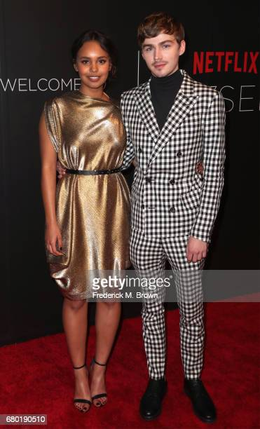 Actors Alisha Boe and Miles Heizer arrive at the Netflix FYSee Kick Off Event at Netflix FYSee Space on May 7 2017 in Beverly Hills California