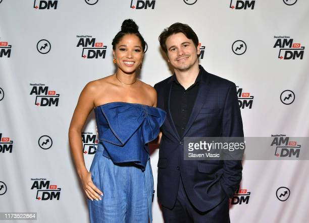 Actors Alisha Wainwright and Jason Ritter visit BuzzFeed's AM To DM to discuss Netflix's Raising Dion on October 3 2019 in New York City