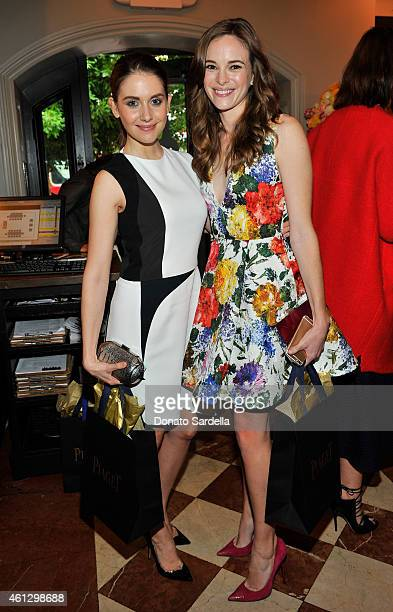 Actors Alison Brie and Danielle Panabaker attend Lynn Hirschberg Celebrates W's It Girls with Piaget and Dom Perignon at A.O.C on January 10, 2015 in...