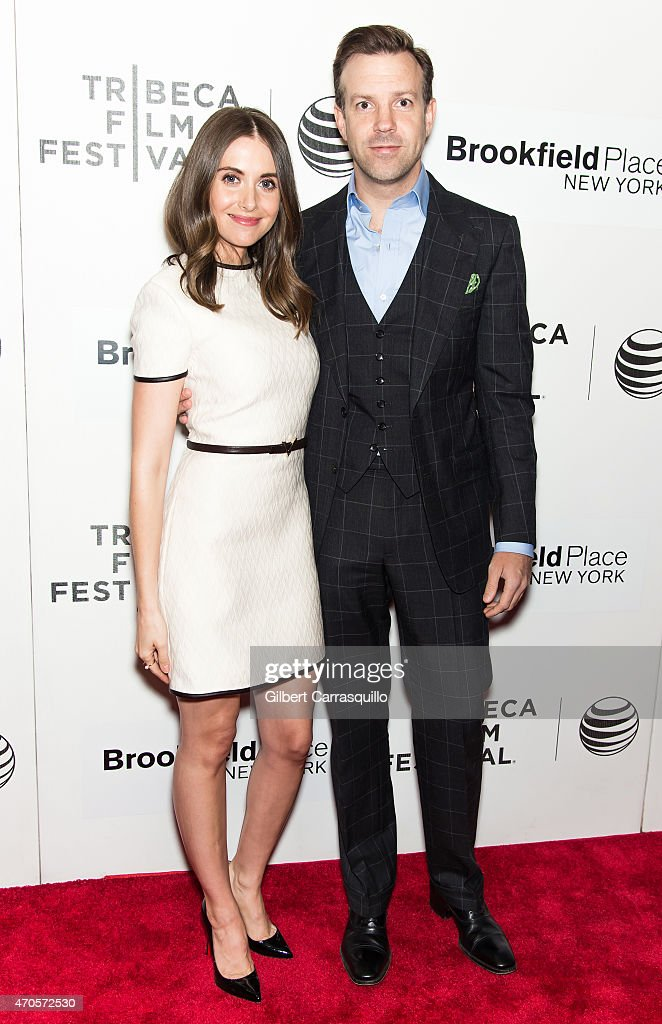 Actors Alison Brie and Jason Sudeikis attend the 2015 Tribeca Film Festival New York Premiere 'Sleeping With Other People' at BMCC Tribeca PAC on April 21, 2015 in New York City.