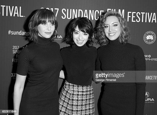 Actors Alison Brie Kate Micucci and Aubrey Plaza attend The Little Hours premiere during day 1 of the 2017 Sundance Film Festival at Library Center...