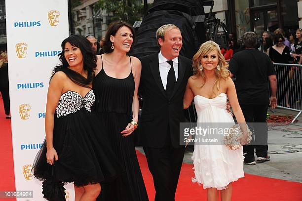 Actors Alison King Suranne Jones Antony Cotton and Tina O'Brien arrive for the Philips British Academy Television Awards at the London Palladium on...
