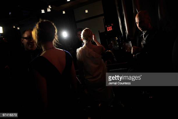 Actors Alison Pill and Jennifer Morrison attend the after party for the Broadway opening of 'The Miracle Worker' at Crimson on March 3 2010 in New...