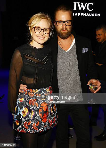 Actors Alison Pill and Joshua Leonard attend the IWC Schaffhausen Third Annual 'For the Love of Cinema' Gala during the Tribeca Film Festival on...