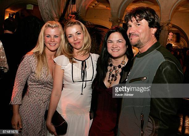 Actors Alison Sweeney Christie Clark Kelly Moneymaker and actor Peter Reckell attend the annual Daytime Emmy nominee party presented by SOAPnet held...