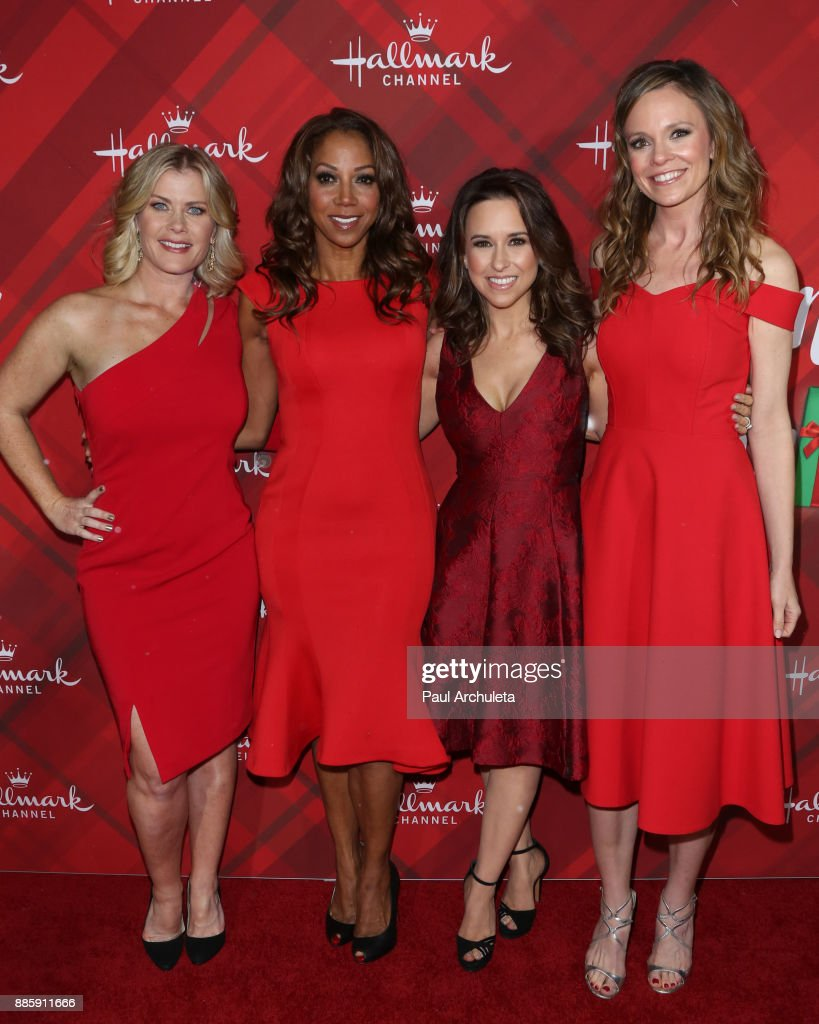 """Hallmark Channel's Countdown To Christmas Celebration And VIP Screening Of """"Christmas At Holly Lodge"""" : News Photo"""