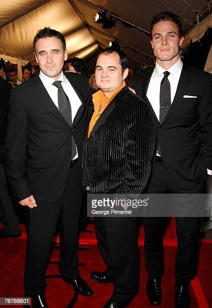 """Actors Allan Hawco, Dylan Roberts and Stephen Amell attend The 32nd Annual Toronto International Film Festival """"Closing The Ring"""" Premiere at Roy..."""
