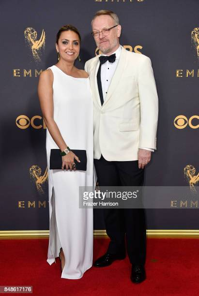 Actors Allegra Riggio and Jared Harris attend the 69th Annual Primetime Emmy Awards at Microsoft Theater on September 17, 2017 in Los Angeles,...
