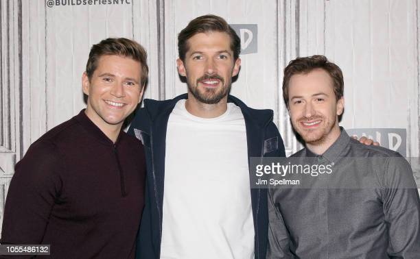Actors Allen Gwilym Lee Lee and Joseph Mazzello attend the Build Series to discuss Bohemian Rhapsody at Build Studio on October 30 2018 in New York...