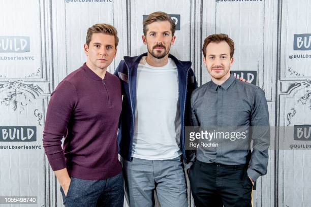 Actors Allen Gwilym Lee Lee and Joseph Mazzello discuss Bohemian Rhapsody with the Buld Series at Build Studio on October 30 2018 in New York City