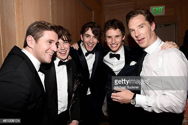 Actors Allen Leech Alex Lawther Matthew Beard Eddie Redmayne and Benedict Cumberbatch attend the 26th Annual Palm Springs International Film Festival...