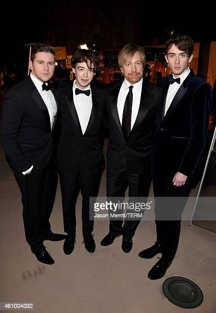 Actors Allen Leech and Alex Lawther director Morten Tyldum and actor Matthew Beard attend the 26th Annual Palm Springs International Film Festival...