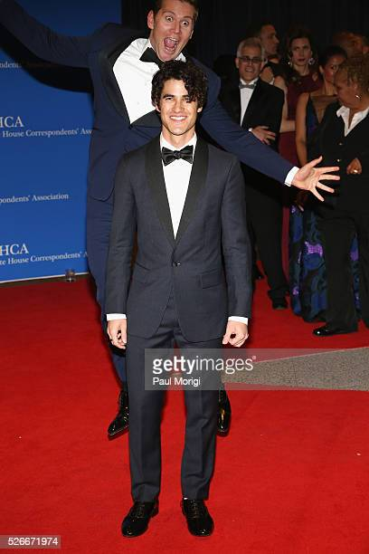 Actors Allen Leech and Darren Criss attend the 102nd White House Correspondents' Association Dinner on April 30 2016 in Washington DC