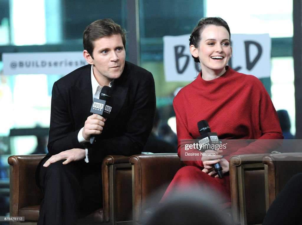 Actors Allen Leech and Sophie McShera visit Build Series to discuss 'Downton Abbey: The Exhibition' at Build Studio on November 17, 2017 in New York City.