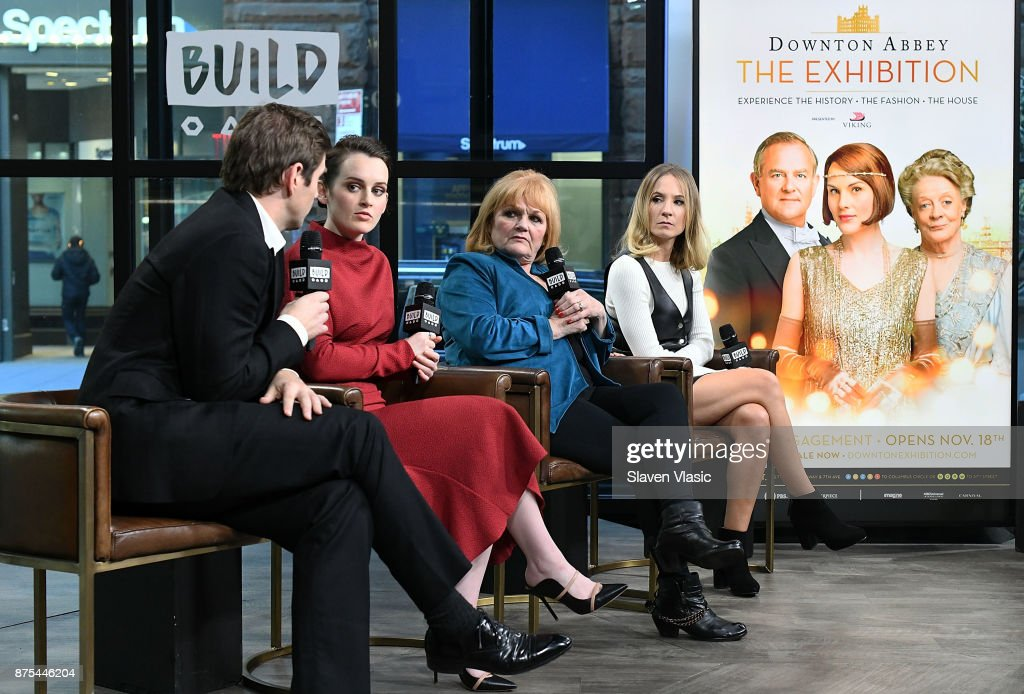 Actors Allen Leech, Sophie McShera, Lesley Nicol and Joanne Froggatt visit Build to discuss 'Downton Abbey: The Exhibition' at Build Studio on November 17, 2017 in New York City.