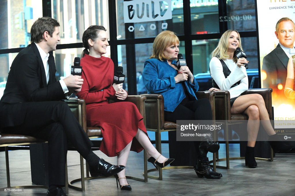 Actors Allen Leech, Sophie McShera, Lesley Nicol and Joanne Froggatt visit Build Series to discuss 'Downton Abbey: The Exhibition' at Build Studio on November 17, 2017 in New York City.