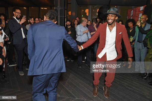 Actors Allen Maldonado and Daniel J Watts dance during TBS' The Last OG Premiere at The William Vale on March 29 2018 in New York City 27038_012