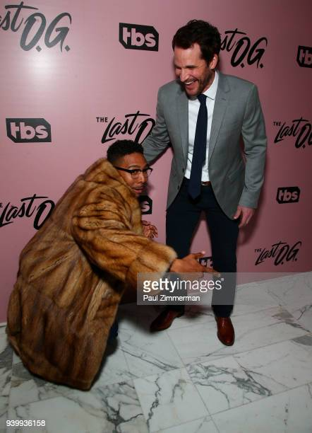 Actors Allen Maldonado and Ryan Gaul attend The Premiere Of 'The Last OG' at The William Vale on March 29 2018 in New York City