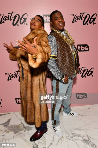 Actors Allen Maldonado and Tracy Morganl attend 'The Last OG' New York Premiere at The William Vale on March 29 2018 in New York City