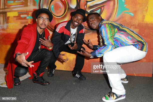 Actors Allen Maldonado Melvin Jackson Jr and Tracy Morgan attends the after party during the TBS' FYC Event For 'The Last OG' And 'Search Party' at...