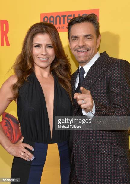 Actors Allesandra Rosaldo and Eugenio Derbez attend the premiere of Pantelion Films' 'How To Be A Latin Lover' at ArcLight Cinemas Cinerama Dome on...