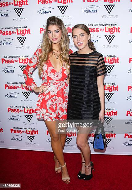 Actors Allie Deberry and Anne Winters attend the premiere of 'Pass The Light' at ArcLight Cinemas on February 2 2015 in Hollywood California