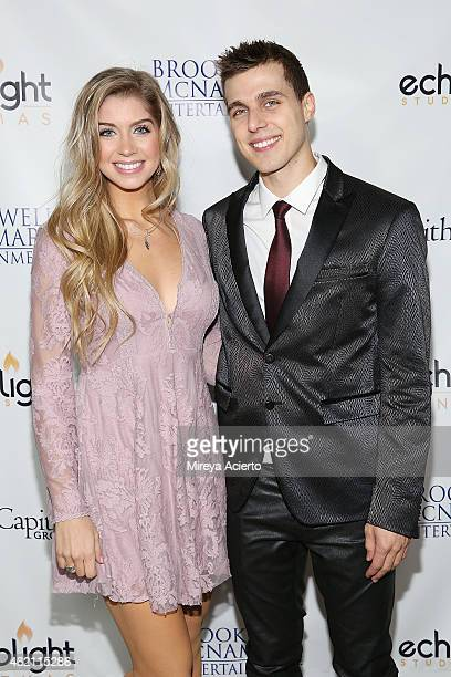Actors Allie DeBerry and Cody Linley attend the 'Hoovey' Los Angeles premiere at Bel Air Presbyterian Church on January 24 2015 in Los Angeles...