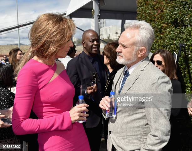 Actors Allison Janney and Bradley Whitford with FIJI Water during the 33rd Annual Film Independent Spirit Awards on March 3, 2018 in Santa Monica,...