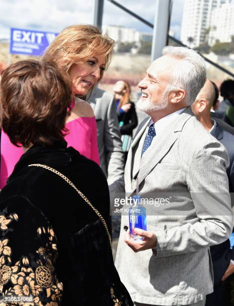 Actors Allison Janney and Bradley Whitford with FIJI Water during the 33rd Anual Film Independent Spirit Awards on March 3, 2018 in Santa Monica,...