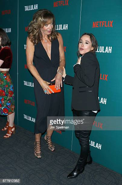Actors Allison Janney and Ellen Page attend the special screening of 'Tallulah' hosted by Netflix at Landmark Sunshine Theater on July 19 2016 in New...