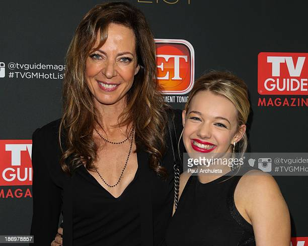 Actors Allison Janney and Sadie Calvano attend TV Guide magazine's annual Hot List Party at The Emerson Theatre on November 4 2013 in Hollywood...