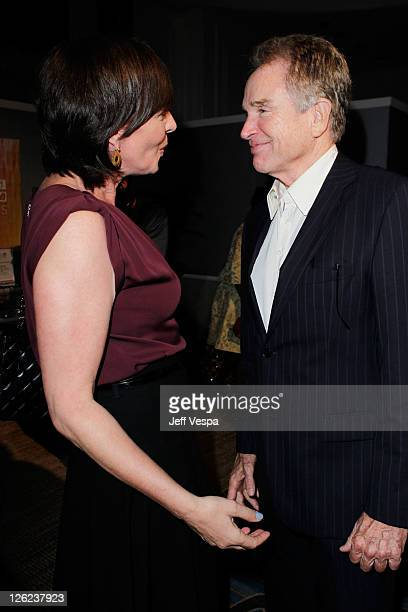 Actors Allison Janney and Warren Beatty attend the 3rd Annual Variety's Power of Women Event presented by Lifetime at the Beverly Wilshire Four...