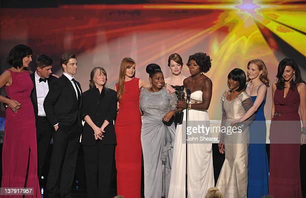Actors Allison Janney Chris Lowell Mike Vogel Sissy Spacek Ahna O'Reilly Octavia Spencer Emma Stone Viola Davis Cicely Tyson Jessica Chastain and...