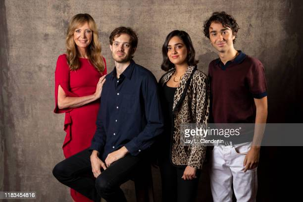 Actors Allison Janney director Cory Finley Geraldine Viswanathan and Alex Wolff from 'Bad Education' is photographed for Los Angeles Times on...