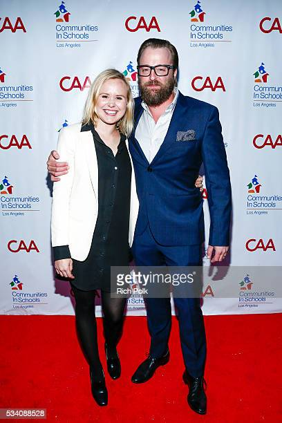 Actors Allison Pill and Josh Leonard attend the communities in schools of Los Angeles annual gala on May 24 2016 in Los Angeles California