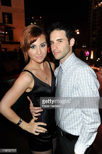 Actors Allison Scagliotti and Danny Lutman arrive at SyFy/E ComicCon Party at Hotel Solamar on July 23 2011 in San Diego California