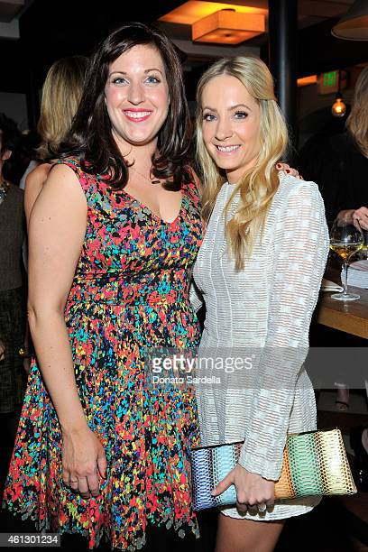 Actors Allison Tolman and Joanne Froggatt attend Lynn Hirschberg Celebrates W's It Girls with Piaget and Dom Perignon at AOC on January 10 2015 in...