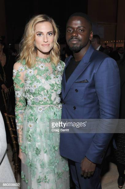 Actors Allison Williams and Daniel Kaluuya attend The 2017 IFP Gotham Independent Film Awards cosponsored by FIJI Water at Cipriani Wall Street on...