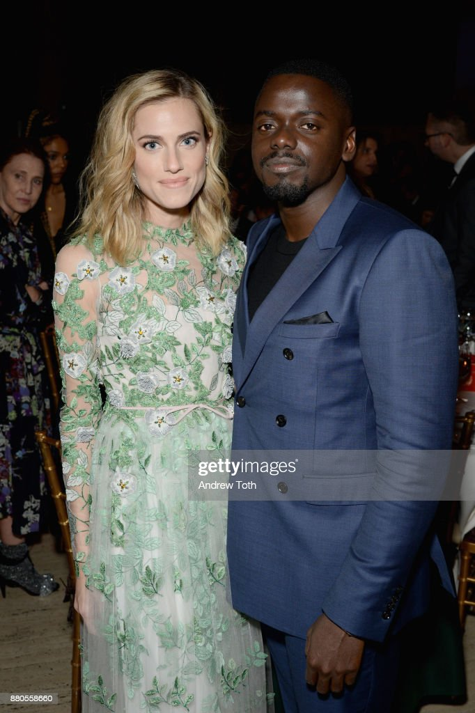 Actors Allison Williams and Daniel Kaluuya attend The 2017 IFP Gotham Independent Film Awards co-sponsored by FIJI Water at Cipriani Wall Street on November 27, 2017 in New York City.