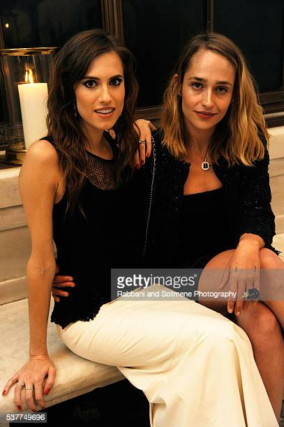 Actors Allison Williams and Jemima Kirke attend the CHANEL Fine Jewelry Dinner supporting treasures from the New York Public Library Collection at...