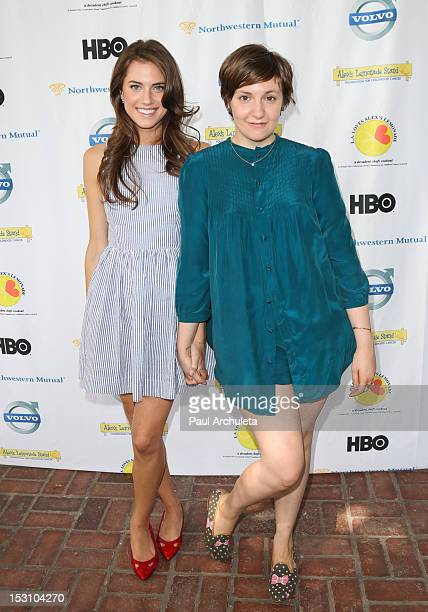 Actors Allison Williams and Lena Dunham attend the LA Loves Alex's Lemonade culinary event at Culver Studios on September 29 2012 in Culver City...