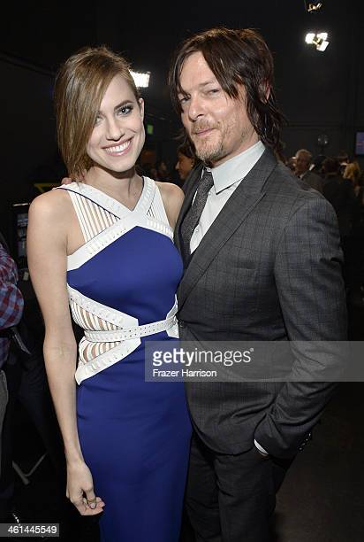 Actors Allison Williams and Norman Reedus attend The 40th Annual People's Choice Awards at Nokia Theatre LA Live on January 8 2014 in Los Angeles...