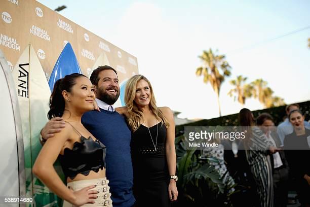 Actors Ally Maki Brian Sacca and Jessica Lowe attend the TNT Animal Kingdom S1 Premiere on June 8 2016 in Venice California 26227_001
