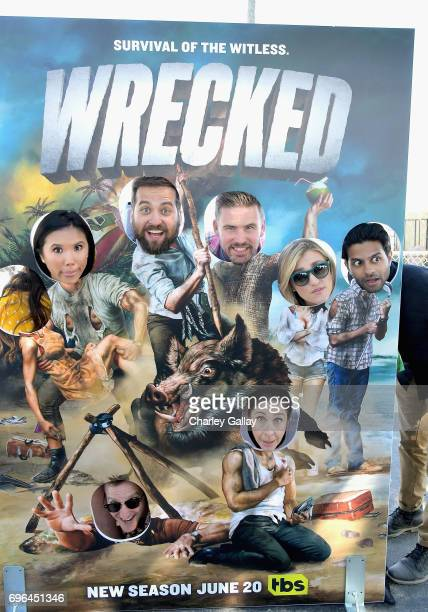 Actors Ally Maki Brian Sacca Zach Cregger Jessica Lowe and Asif Ali Actors Will Greenberg and Brooke Dillman at the Wrecked Press Influencer Event on...