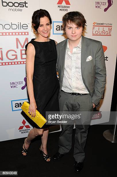 Actors Ally Sheedy and Spencer Breslin attend the premiere party for Harold hosted by the Boost Mobile film lounge at 1 Oak on April 30 2008 in New...