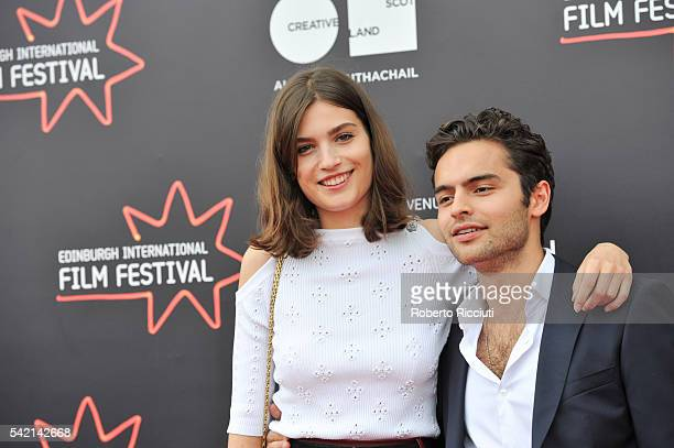 Actors Alma Jodorowsky and Sebastian De Souza attend the World Premiere of 'Kids in Love' at the 70th Edinburgh International Film Festival at...