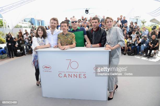 Actors Aloise Sauvage Antoine Reinartz Nahuel Perez Biscayart director Robin Campillo Arnaud Valois and Adele Haenel attend the '120 Beats Per Minute...