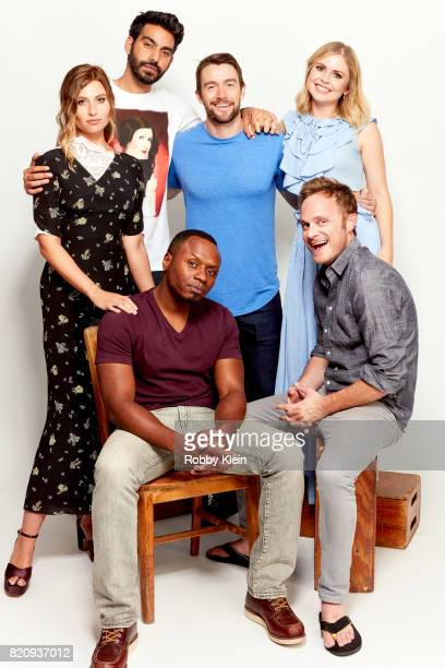 Actors Aly Michalka, Rahul Kohli, Malcolm Goodwin, Robert Buckley, Rose McIver and David Anders from CW's 'iZombie' pose for a portrait during...